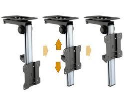 porta tv soffitto ricoo supporto da soffitto per monitor e tv d0111 inclinabile