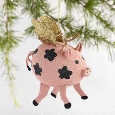 glitter unicorn ornaments set of 3 world market