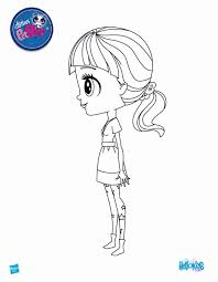 littlest pet shop coloring pages blythe baxter side meet