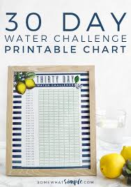 Water Challenge 30 Day Water Challenge Printable Water 30th And Food