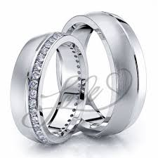 wedding rings his hers wedding ring sets for him with lifetime warranty