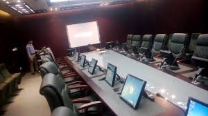 Touch Screen Conference Table Touch Screen And Smart Podium