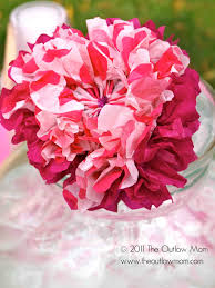 craft paper tissue flower tutorial the outlaw mom blog