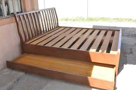 pull out bed frame beautiful queen size bed frame on how to build