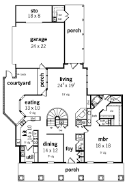 House Plans Courtyard by 73 Best Courtyard Floor Plans Images On Pinterest House Floor