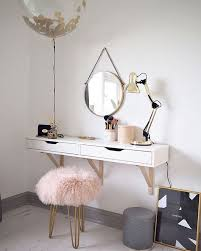 Vanity Tables Dressing Table Ekby Wall Shelf From Ikea With Ghost Chair To
