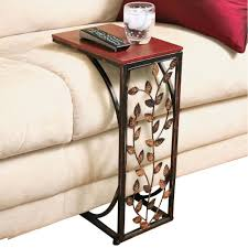 couch arm coffee table amazon com leaf design sofa side table home kitchen