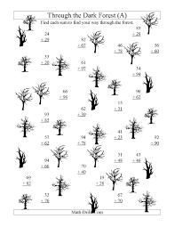 adding through the dark forest two digit addition a