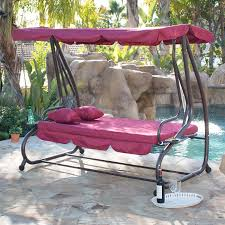 Swing Bed With Canopy Outdoor Canopy Swing Bed Patio Deck Garden Porch Seat Furniture