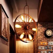 wagon wheel light fixture saralin 6 light rustic wagon wheel chandelier free shipping today