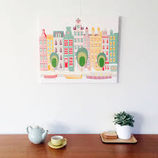 amsterdam wall art canal houses wall art canvas print framed