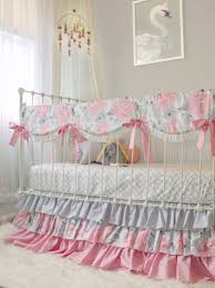 Gray And Pink Crib Bedding Pink Gray Fawn Baby Bedding Set Pink Deer Woodland Nursery