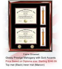 graduation frames with tassel holder personalized certificate diploma frames