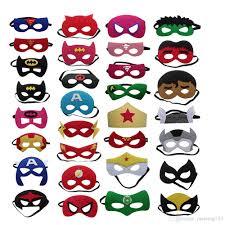 new design children superhero mask cosplay halloween half masks
