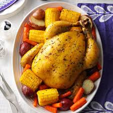 Roast Vegetable Recipe by Roast Chicken With Vegetables Recipe Taste Of Home