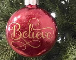 believe ornament etsy