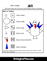 roll a turkey printable game a to z teacher stuff printable