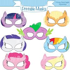 pony printable masks pony mask horse mask girls costume