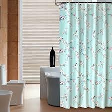 Teal Bird Curtains Bird Shower Curtains Kritters In The Mailbox Bird Shower Curtain