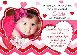valentine birthday invitation 1st birthday valentines day