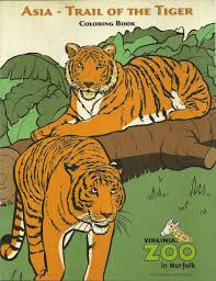 tiger coloring book pages coloring pages virginia zoo in norfolk