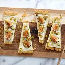 cuisine mascarpone fig mascarpone tart with pistachio black pepper crust baking the