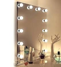 Tabletop Vanity Mirrors With Lights Mirror With Light Bulbs Awesome Vanity Mirror With Light Bulbs
