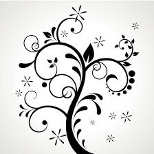 black floral ornament vector at vectorportal