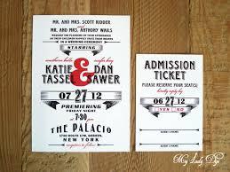 Movie Ticket Wedding Invitations Vintage Movie Themed Wedding Invitations Yaseen For
