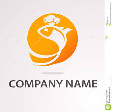 logo with golden fish royalty free stock images image 34504179