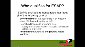 webinar recording snap esap elderly simplified application