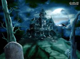 animated haunted house desktop wallpaper haunted house pc