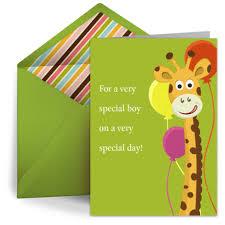 birthday giraffe kids happy birthday ecard greeting card
