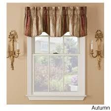 tuscan rod pocket valance pair window treatments shopping and