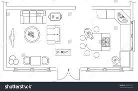 Floor Plan Elements Architectural Set Furniture Design Elements Floor Stock Vector