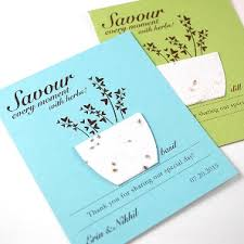 Plantable Wedding Invitations Leaf Plantable Seed Paper Favor Ecopartytime