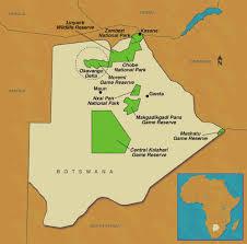 africa map kalahari botswana map gif