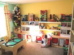 kids playroom toy storage idea at kids bedroom applying warm room