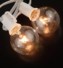 lights 40 5ft string lights white cord 10 g40 c7 bulbs