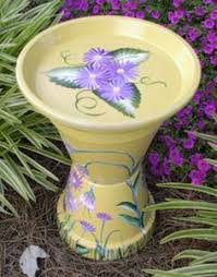 Flower Pot Bird Bath - photo clay pot bird bath needed are 3 different size clay pots