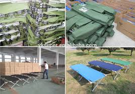 Camping Folding Bed Outdoor Army Cot Military Folding Camping Bed With 600d Carrying