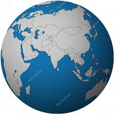 asia globe map political map of asia on globe map stock photo michal812 25716121
