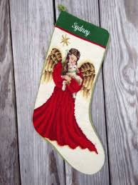 lands end christmas lands end needlepoint christmas personalized sydney angel