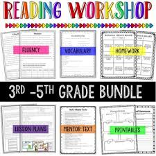 3rd 5th grade reading workshop bundle aligned to common core by
