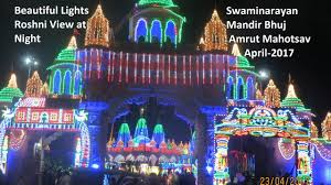 swaminarayan bhuj mandir beautiful lights roshni decoration on