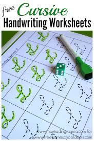 free cursive handwriting worksheets instant download cursive