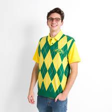 kelly and yellow oregon argyle sweater vest