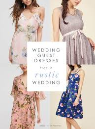 what should a guest wear to a rustic wedding