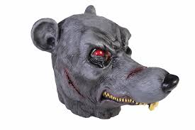 latex evil rat head mask scary horror halloween costume accessory