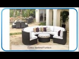 outdoor sectional furniture outdoor wicker patio furniture youtube